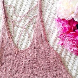 American Eagle Knit Blush Pink Top